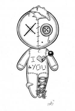 Drawn doll voodoo doll