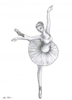 Drawn amd ballerina