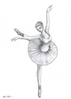 Drawn dancer pretty ballerina
