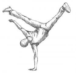 Drawn dancer people dancing