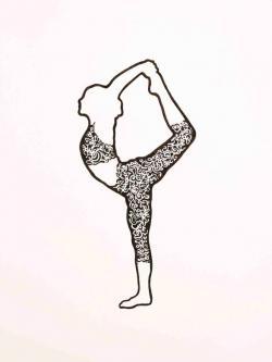 Drawn dancer yoga
