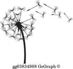 Dandelion clipart illustration