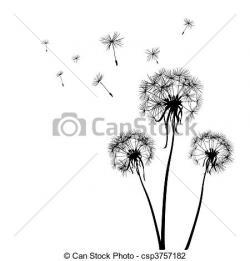 Dandelion clipart graphic