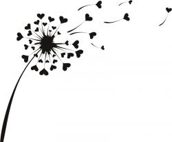 Dandelion clipart heart