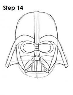 Drawn masks darth vader