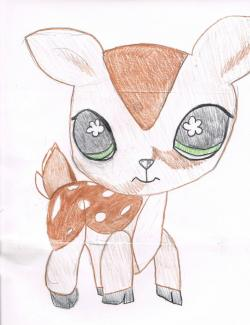 Drawn deer littlest pet shop