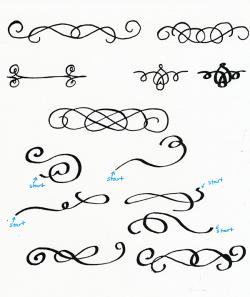 Drawn decoration calligraphy