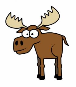 Drawn moose cartoon