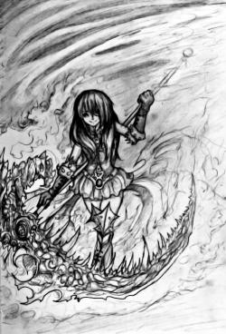 Drawn scythe badass