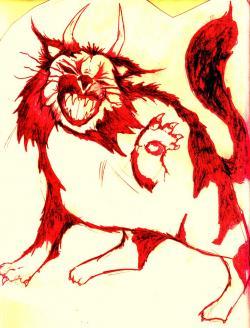 Drawn demon horned demon