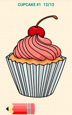 Drawn dessert