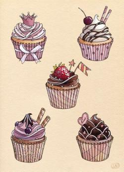 Drawn cake