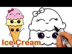 Drawn waffle cone cute anime
