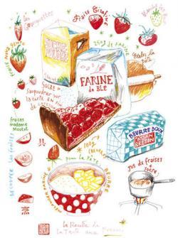Tart clipart strawberry pie