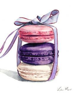 Macaron clipart watercolor