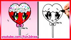 Drawn lollipop valentines day