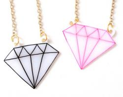 Drawn necklace dimond