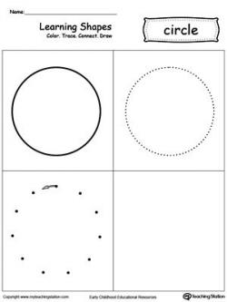 Drawn shapes circle