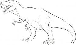 Drawn velociraptor simple