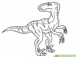 Drawn velociraptor easy