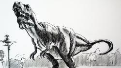 Drawn tyrannosaurus rex pencil