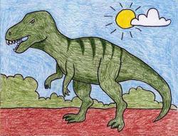 Drawn tyrannosaurus rex tyrannosaurus