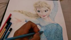 Drawn frozen pencil sketch