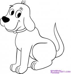 Clifford clipart black and white