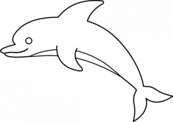 Dolphins clipart black and white