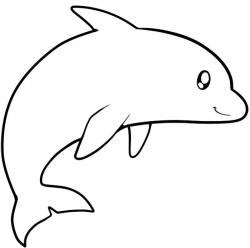 Drawn dolphines east