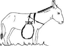 Drawn donkey saddle