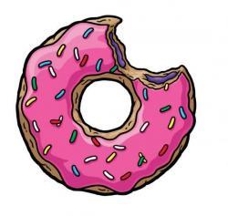Drawn doughnut simpsons