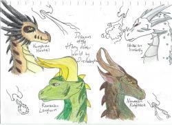 Drawn dragon harry potter dragon