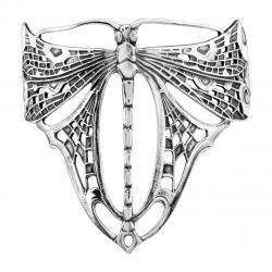 Drawn dragonfly art nouveau