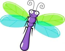 Dragonfly clipart animated