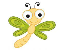 Dragonfly clipart cartoon