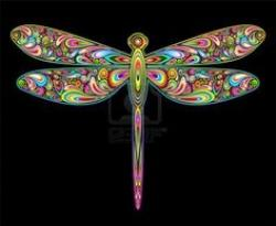 Dragonfly clipart psychedelic