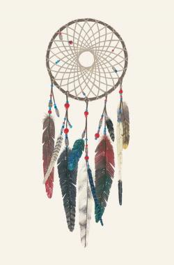 Drawn dreamcatcher