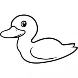 Drawn duckling easy