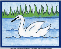 Drawn nature swan