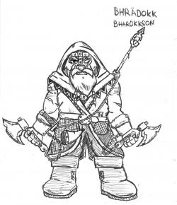 Drawn dwarf badass