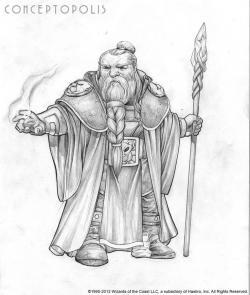 Drawn dwarf pencil
