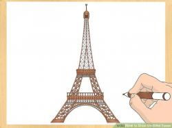 Drawn eiffel tower