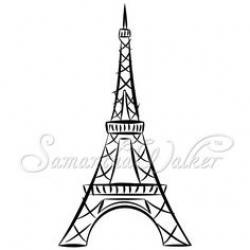 Drawn eiffel tower europe