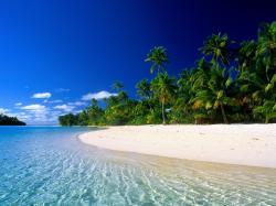 Drawn eiland beautiful beach