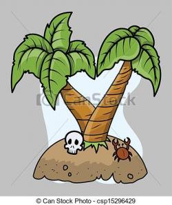 Drawn eiland cartoon