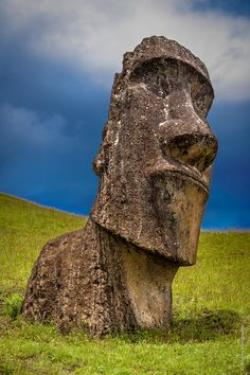 Drawn eiland easter island