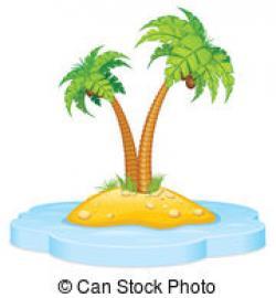 Drawn eiland tropical island