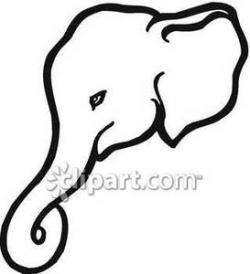 Trunk clipart black and white