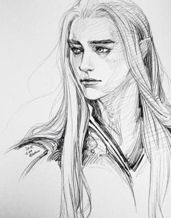 Drawn elf the hobbit